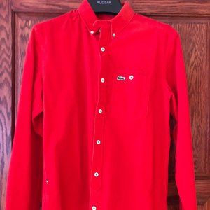 Brand New With Tags Lacoste Corduroy Shirt